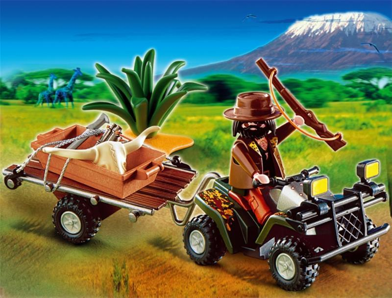4834PM Playmobil 4834 - cazador furtivo con quad y