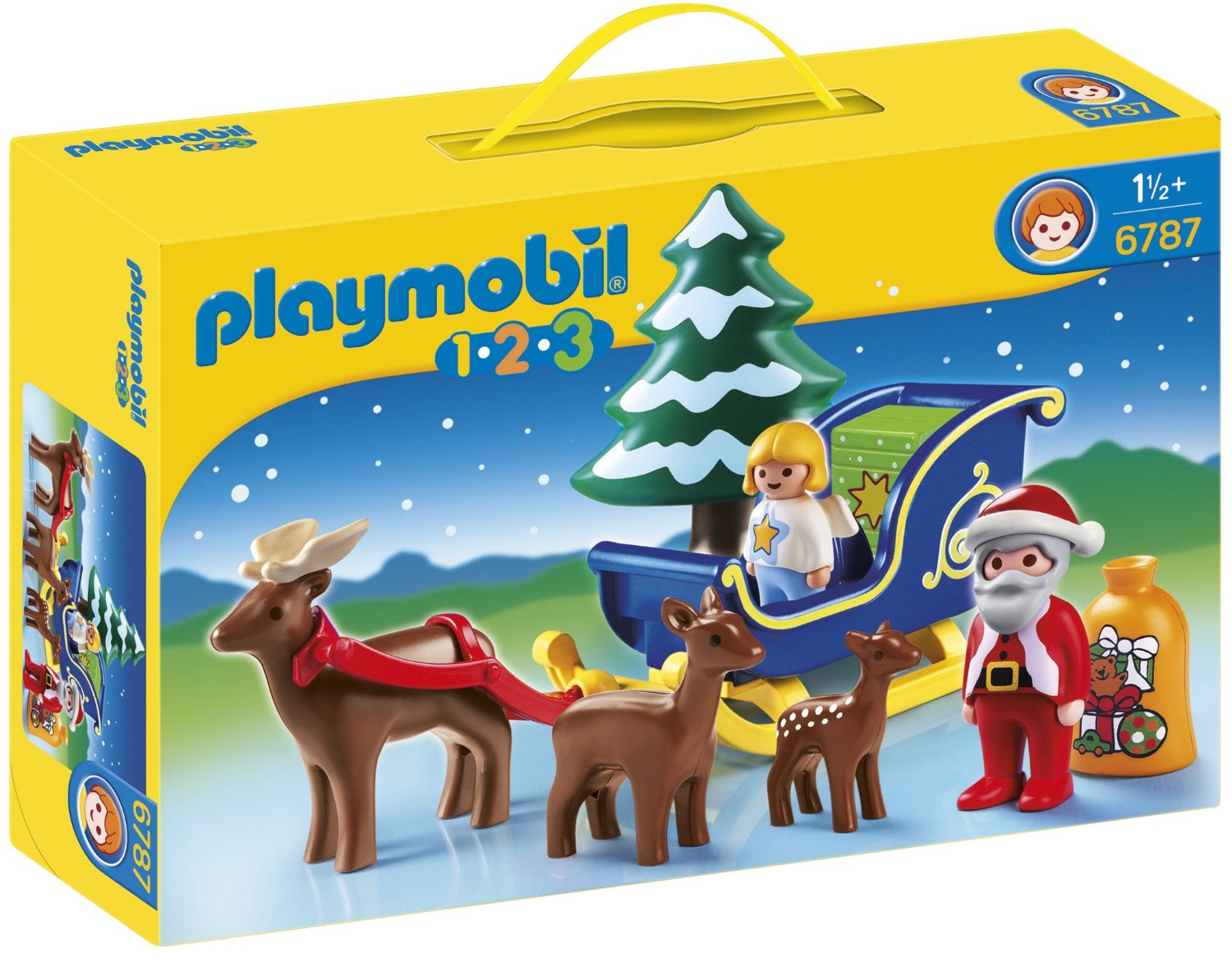 6787PM SANTA CLAUS WITH REINDEER SLEDGE